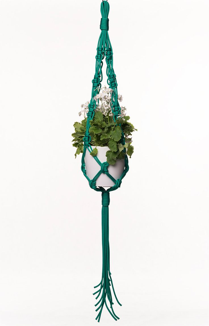 1000 id es sur le th me suspension de porte pot sur pinterest rangements - Porte plante macrame ...