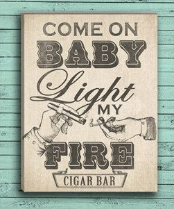 Custom Cigar Bar Art as a Print or On Canvas. Love this plus you don't have to buy a frame! by DesignerCanvases, $10.00