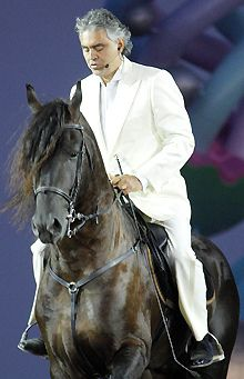 Andreas Bocelli: is there anything this man cannot do! Being on a horse makes so much sense... Relax and Trust ....they will SEE for you!
