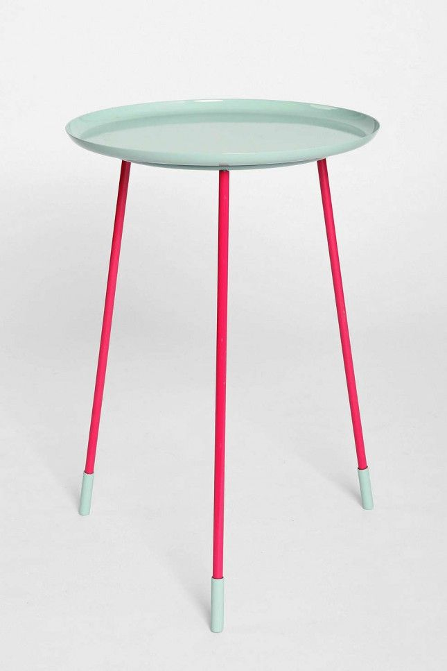 Add a pop of color to your home with this table.