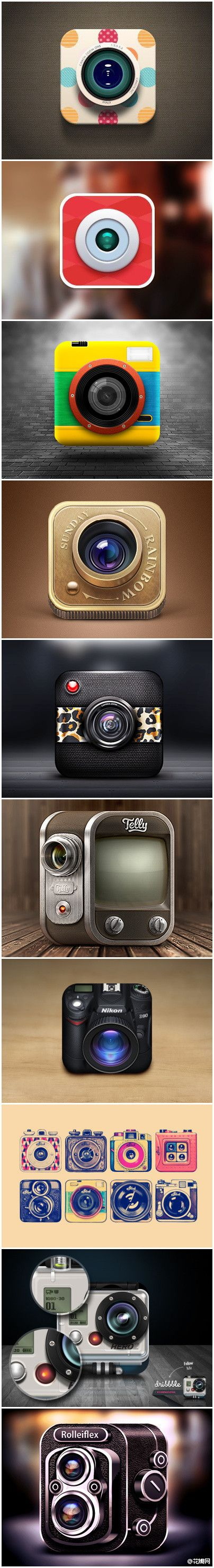 Camera Icons + Illustration #icons