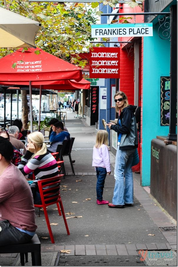 Cafe scene on Darby Street, Newcastle, Australia