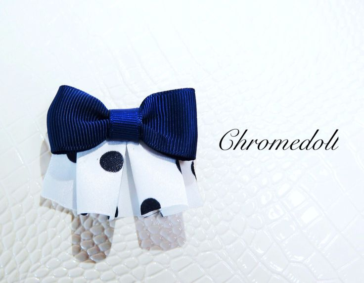 Hair accessories . Bow with dot frill.