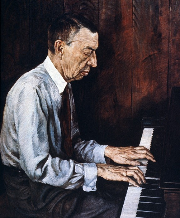 Rachmaninoff at the piano...love his pieces