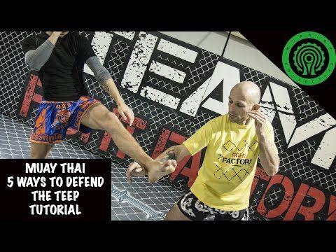 Muay Thai 5 ways to Defend the Teep Tutorial - YouTube