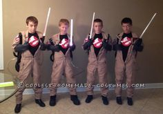 Best Homemade Ghost Busters Group Halloween Costume...