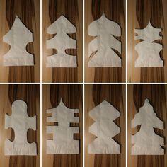 Papiersterne aus Brottüten