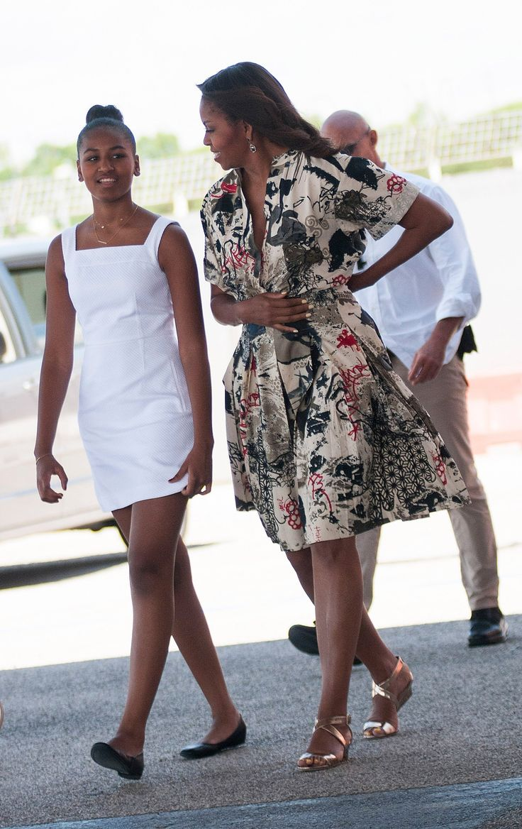 WHO: Michelle Obama WHAT: Donna Karan WHERE: Departing Venice WHEN: June 21, 2015