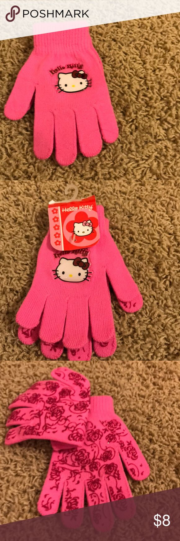 Hello Kitty girls gloves Brand new Hello Kitty pink gloves. Perfect for those chilly days. Accessories Mittens