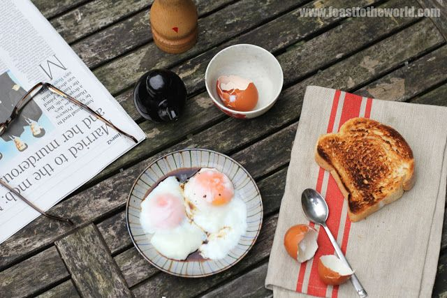 FEAST to the world: Singapore Half-Boiled Eggs - 100% Pure Egg Perfection!