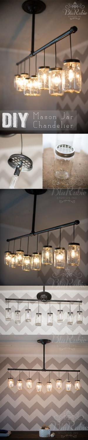 DIY mason jar chandelier by Melissa T
