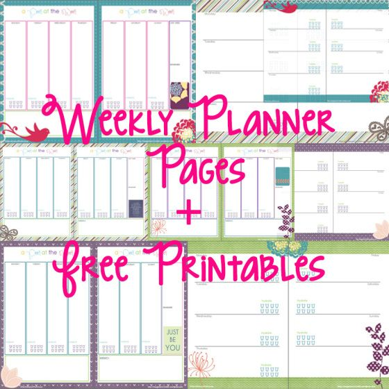 Little Mistress of the House -Free Weekly Planner Pages