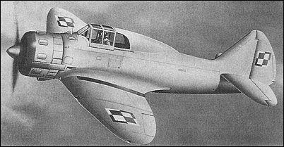 The PZL P.50 Jastrząb (Hawk) was an experimental stressed skin metal monoplane fighter...