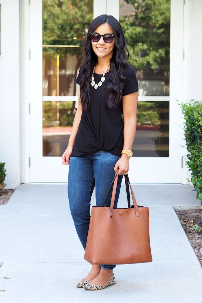 5 Tops That Will Make You Look Effortlessly Put Together. black twist tee  ...