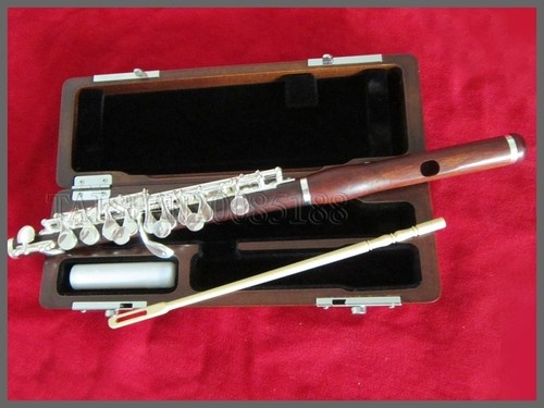 Rose Wooden C Key Wood Piccolo Flute Split E I need this in my life