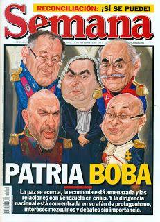 RESTREPO: PATRIA BOBA_PORTADA para la REVISTA SEMANA.