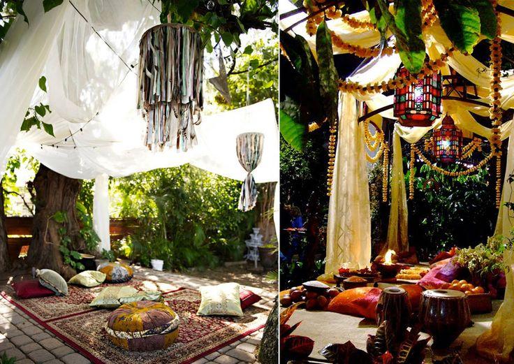 A bohemian backyard