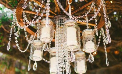 [tps_header]We have seen lots of wedding decor ideas focus on the tables, but there are some other ways ofpersonalising a space. We're in love with this romantic and stunning hanging chandelier trend. Hanging wedding...