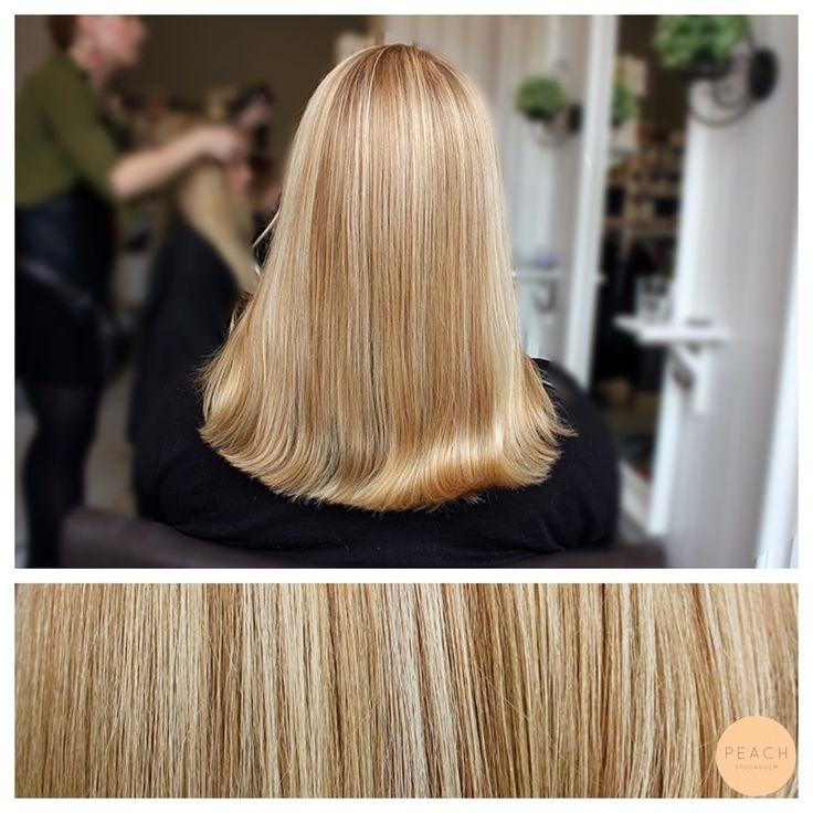 Guldblond hårfärg