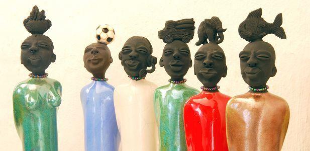 Zulu-lulu Ceramic Art Studio,  famous for their Dlamini figurines Midlands Meander, KZN, South Africa www.midlandsmeader.co.za
