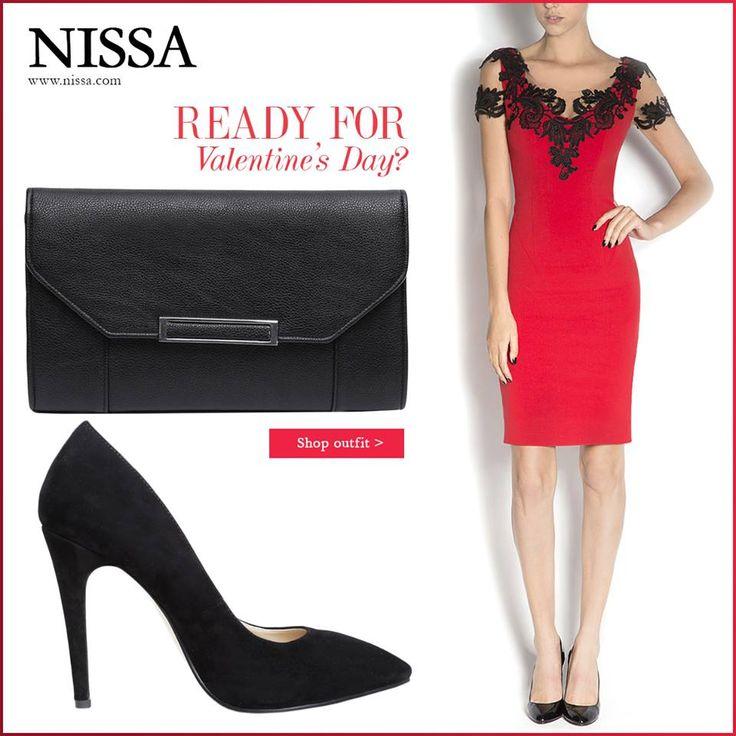 http://shop.nissa.com/ro/valentines  #nissa #valentinesday #valentine #outfit #look #style #stylish #dress #red #heels #clutch #plic #rochie #pantofi #toc #fashion #fashionista
