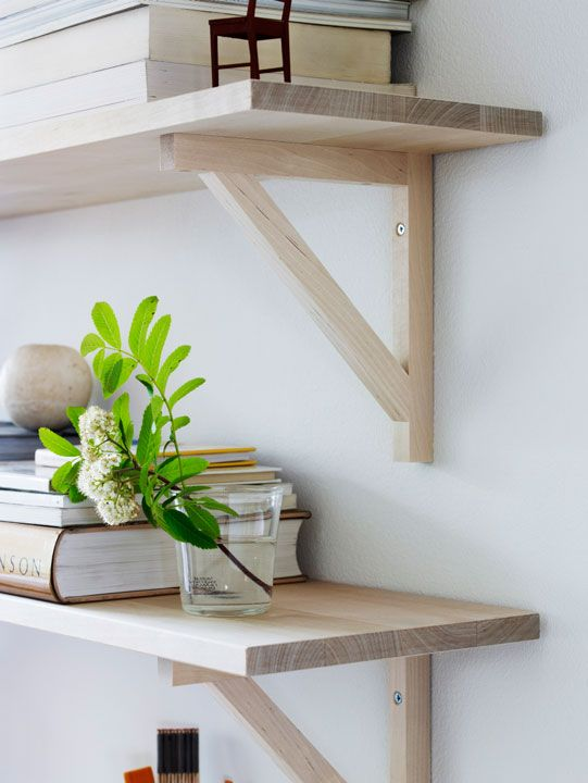Wood shelves from Norrgavel