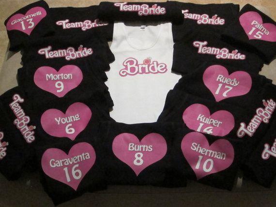 "Customized ""Barbie"" themed Bachelorette Tank Tops on Etsy, $14.99"