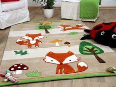 Lifestyle Kinderteppich Füchse Beige Teppiche Kinder- und Spielteppiche Lifestyle Kinderteppiche