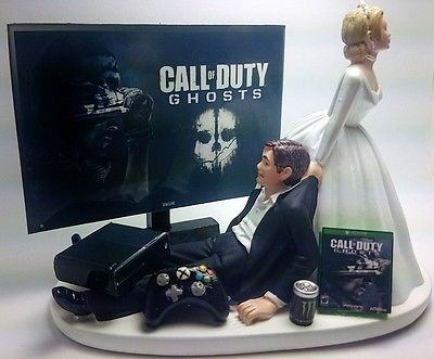 Cod Ghosts Funny Wedding Cake Topper