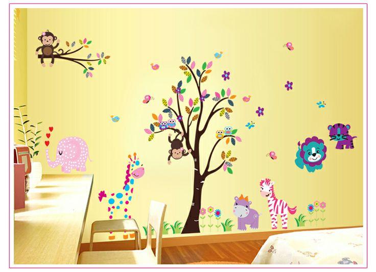 8 mejores im genes de decoracion de habitacion para bebe for Mural para habitacion
