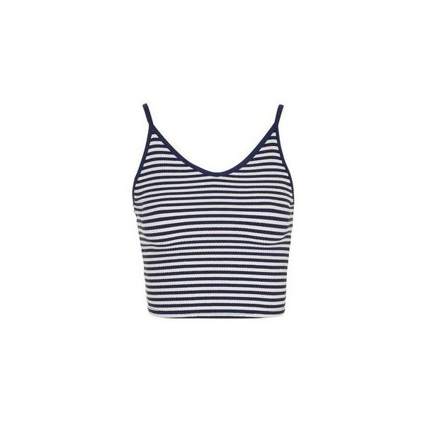 TopShop Petite Stripe Crop Cami ($11) ❤ liked on Polyvore featuring tops, shirts, crop tops, cream, rayon shirts, cream crop top, cami tops, camisole tops and cropped cami