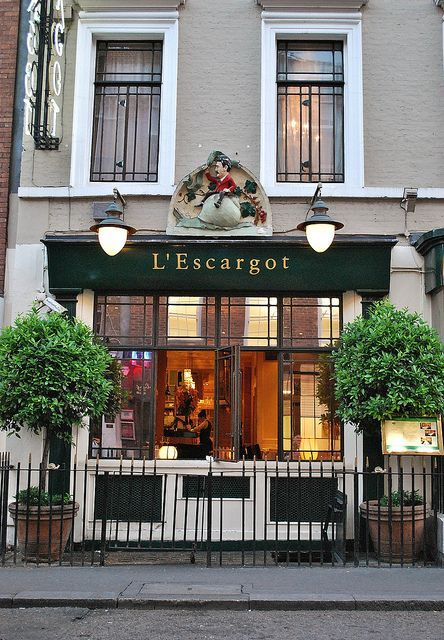 L'Escargot | London   love it  for memories of great celebrations. and more to come.