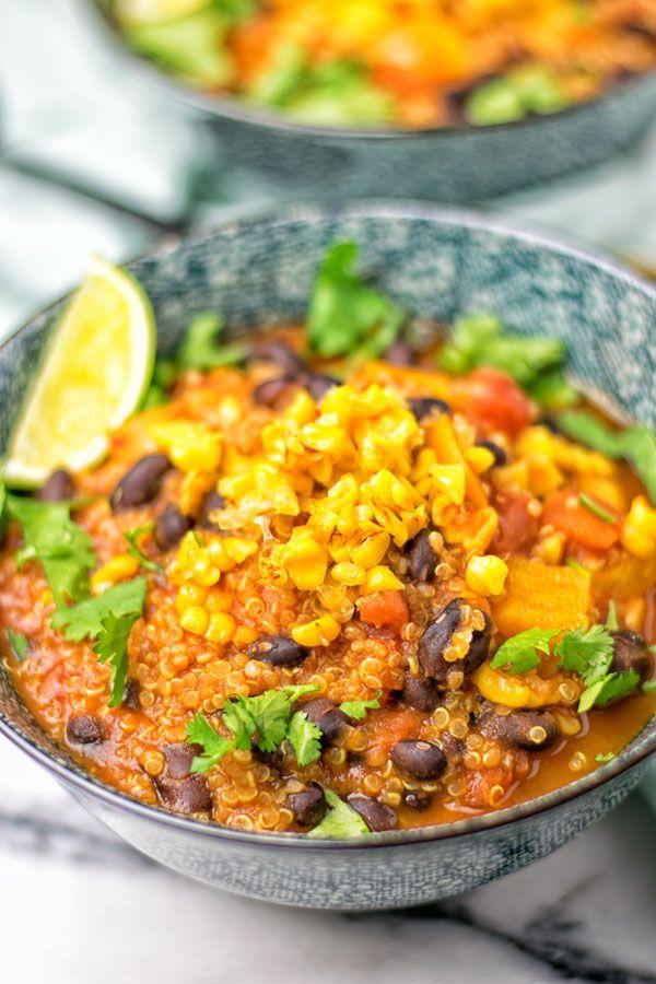 Mexican Quinoa Tortilla Soup Vegan Glutenfree Plantbased Contentednesscooking Tortilla Soup Veggie Recipes Wine Recipes