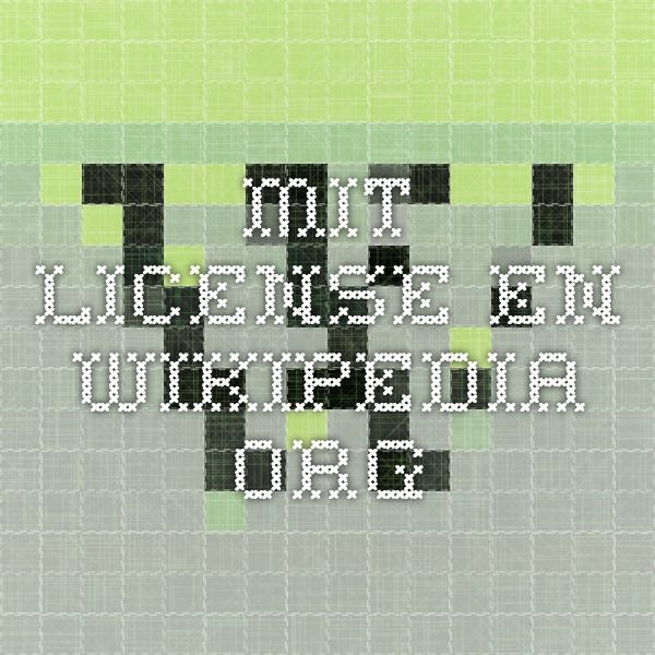 MIT License -  en.wikipedia.org