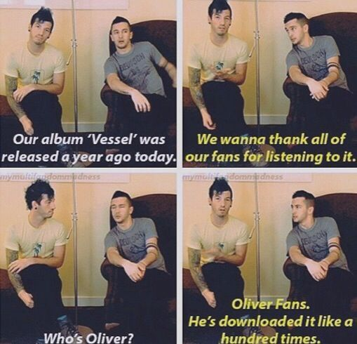 I'm Oliver p: