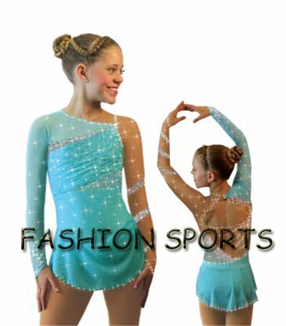 Hot venda figura nova marca de patinação para meninas bonitas vestido de competição de patinação HB1019