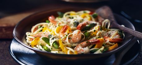 Cook with Campbells. Shrimp and Asparagus Linguine