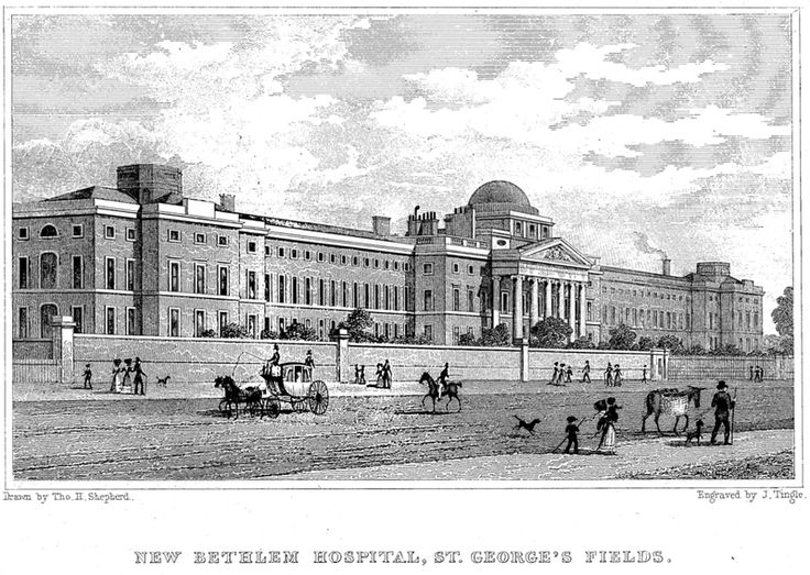 New Bethlem Hospital rebuilt beginning in the first part