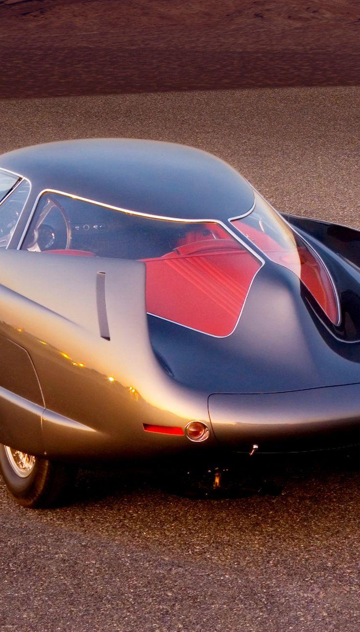Italian concept car alfa romeo bat 5 berlinetta aerodinamica tecnica a collaboration of alfa romeo and the designer franco scaglione of bertone