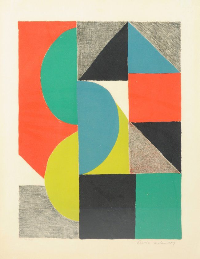 """SONIA DELAUNAY (French 1885-1979) AN ETCHING, """"Venise,"""" : Lot 104"""