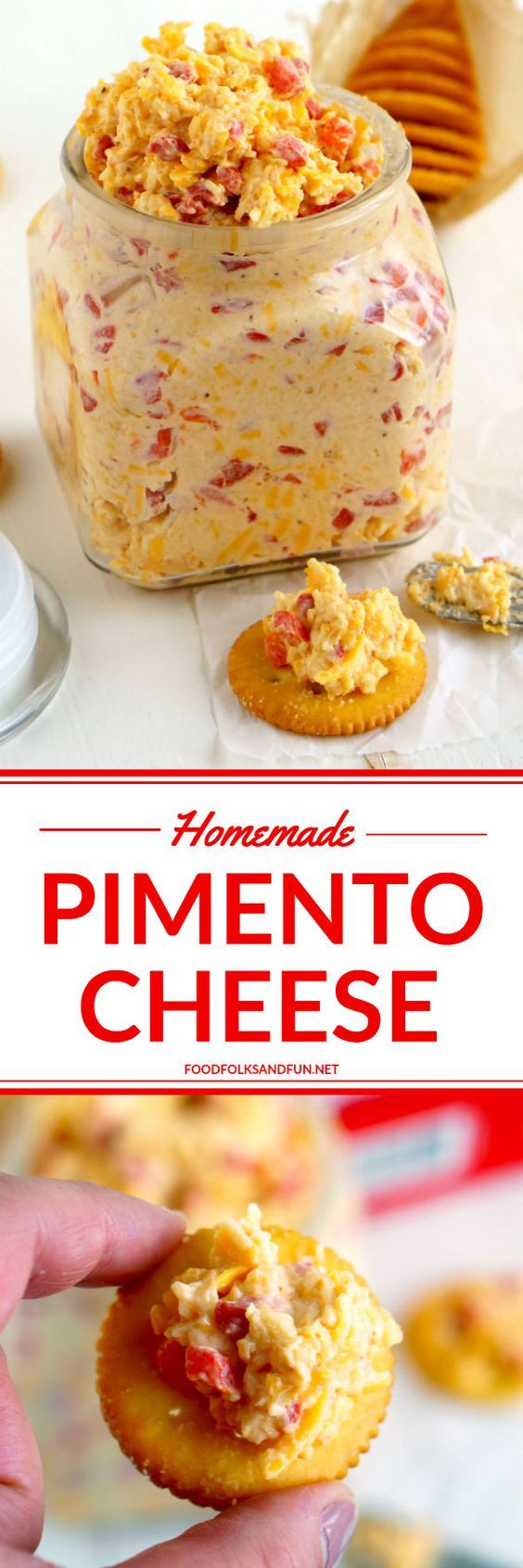 This recipe for Pimento Cheese, the southern classic, is simple, portable, and some serious comfort food. It's perfect for snacks or as an appetizer when entertaining! #FamilyRITZpiration  #ad