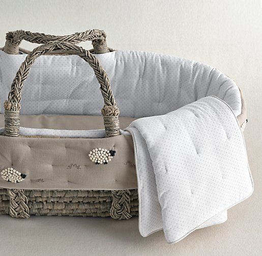 Hand-Knotted Sheep Basket Liner | Moses Basket Bedding