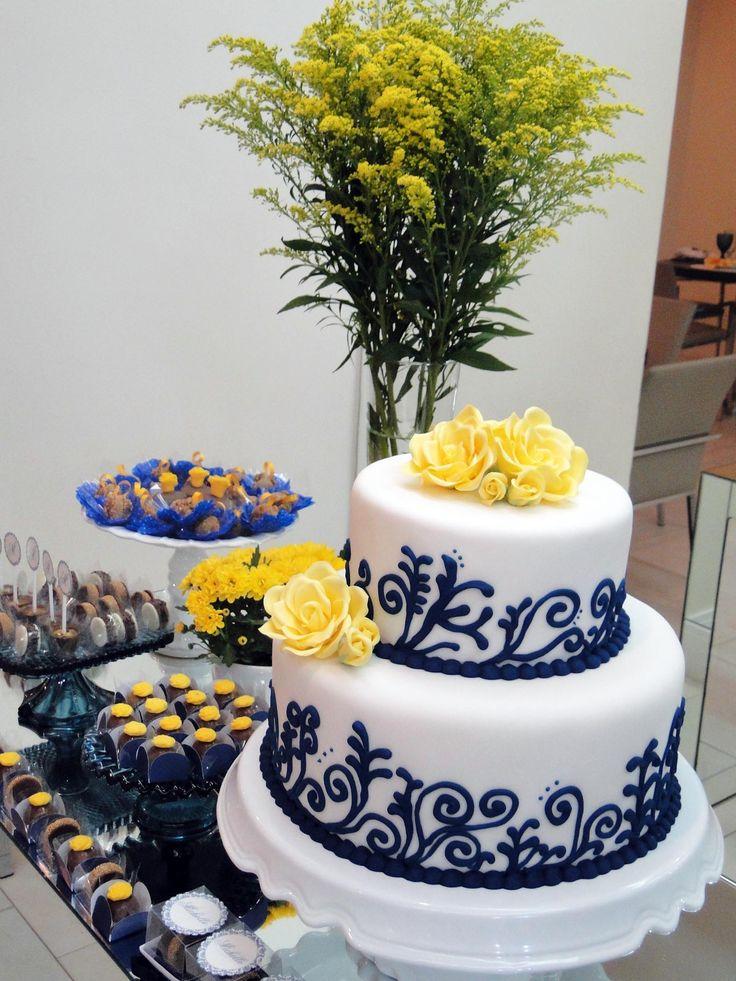 Festa azul e amarelo: delicinhas e decoração   Blog da Michelle Mayrink