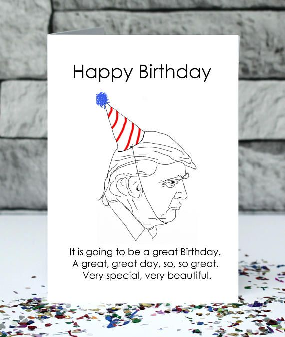 Donald Trump birthday card very beautiful birthday card