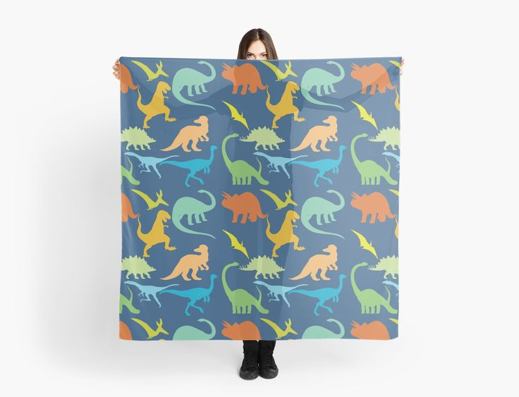 Colorful Dinosaur Pattern Scarf / Scarves