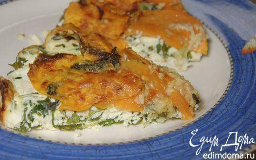 Запеканка из рикотты со сладким картофелем и шалфеем    Кулинарные рецепты от «Едим дома!»
