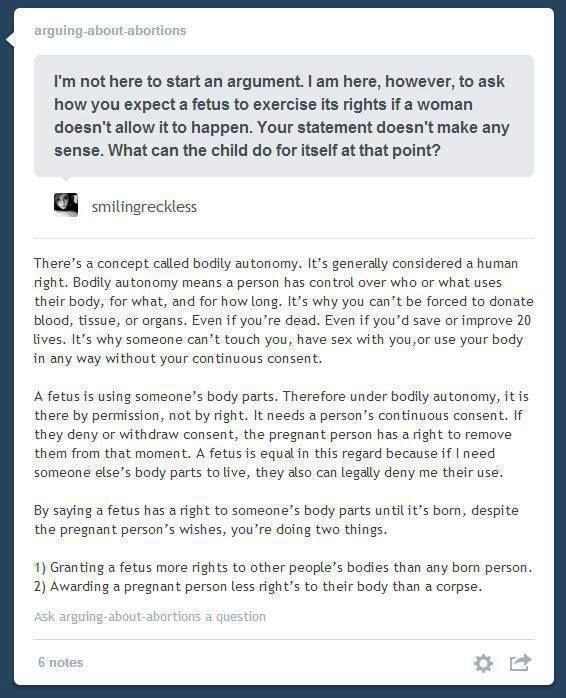WOW WOW WOW. why hasnt this been brought up before? i know, it probably has but this is such a good point they probably keep it well hidden.  very very interesting take on abortion and womens rights