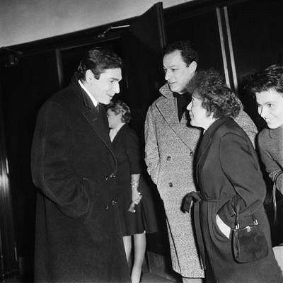 Edith Piaf with Robert Hossein and Charles Dumont