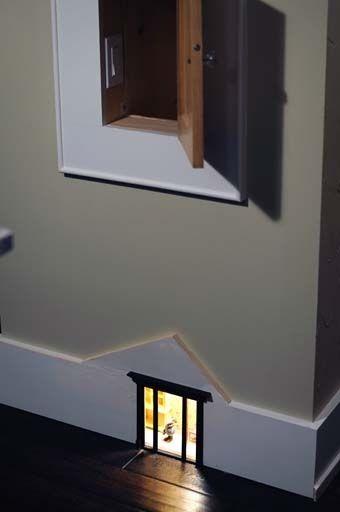 A Tiny Baseboard Mouse House