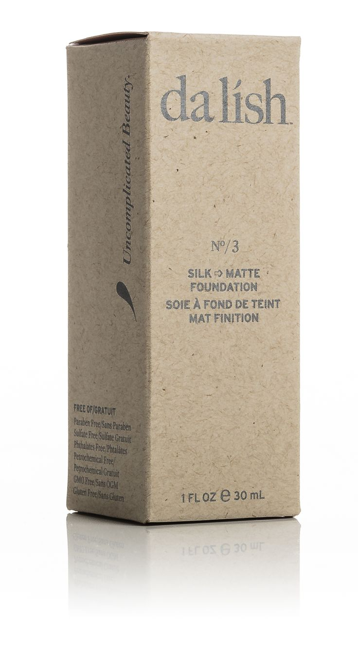 FO3 Silk - Matte Foundation packaging by da lish cosmetics. More info available at www.dalishcosmetics.com